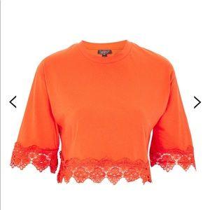TOPSHOP Square Sleeve Trim T-Shirt